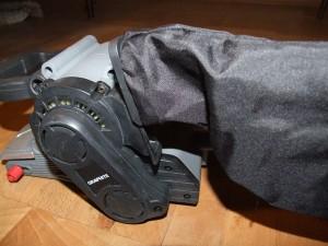 Szlifierka taśmowa - Dołączony worek na wióry