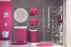Łazienka w kolorach tęczy, fot. Laveo