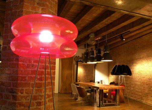 BIG PINK floor lamp