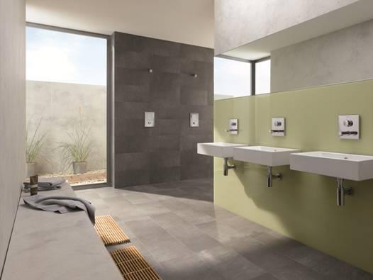 Dominującym trendem w nowoczesnych łazienkach są armatury podtynkowe Fot. SCHELL