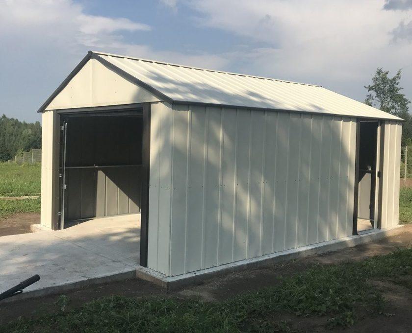 Vinylowy domek ogrodowy/garaż Murryhill marki Arrow