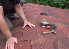 Gont bitumiczny układanie – naroża dachu